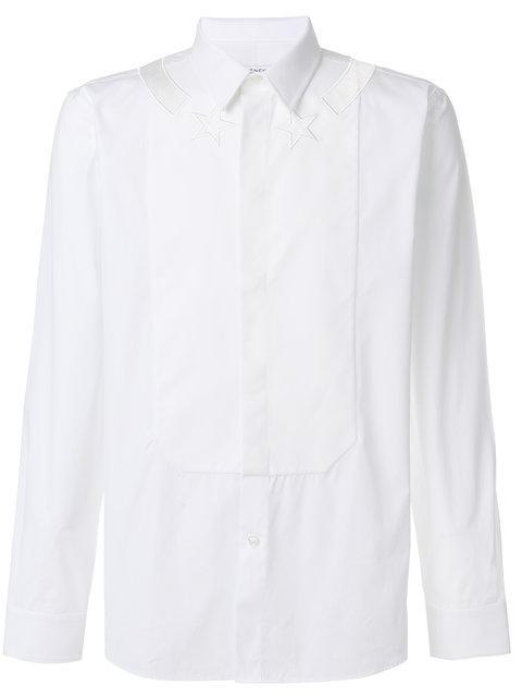 Givenchy Star Embroidered Poplin Shirt