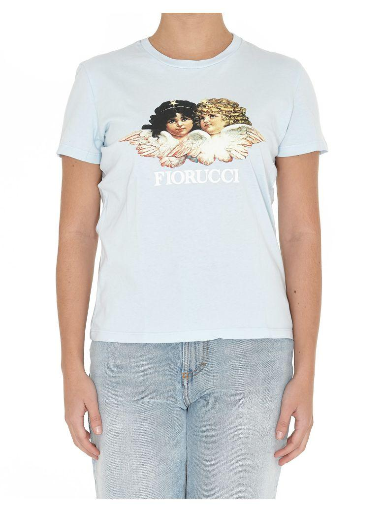 Fiorucci Vintage Angels Tshirt In Light Blue