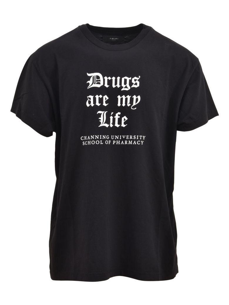 Amiri Drugs Are My Life Tee In Black