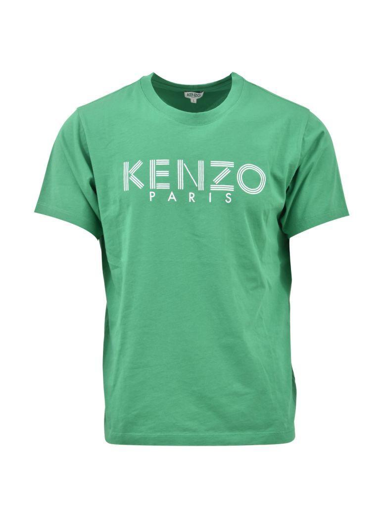 Kenzo Logoed T-shirt Green In Emerald