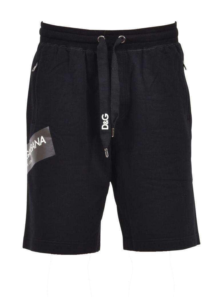Dolce & Gabbana Black Logo Bermuda Shorts