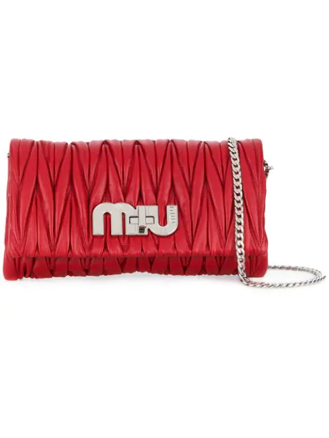 Miu Miu My Miu Shoulder Bag - Red