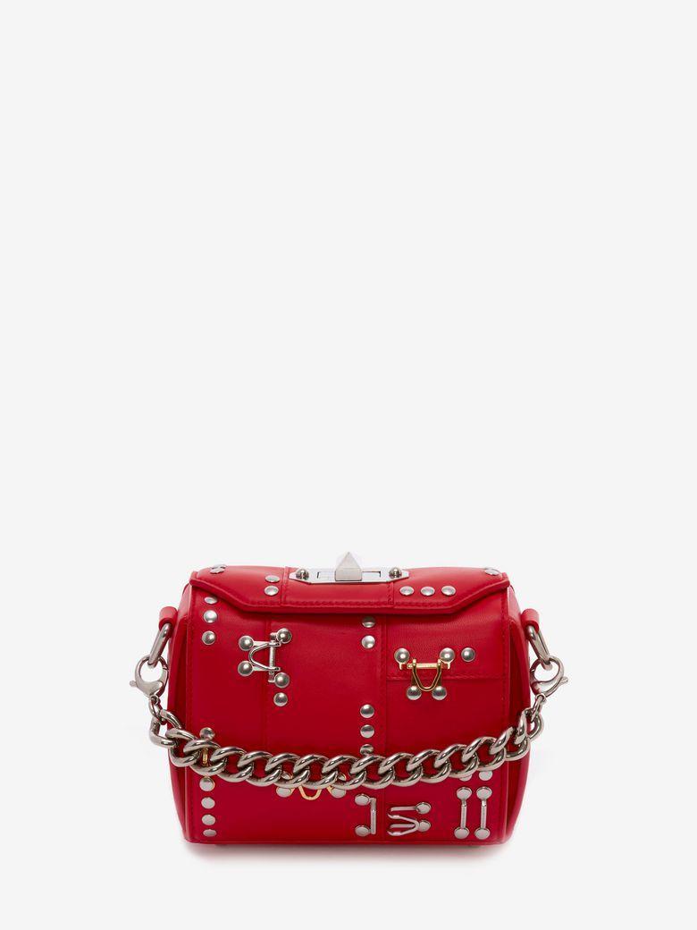 Alexander Mcqueen Box Bag 16 In Lust Red
