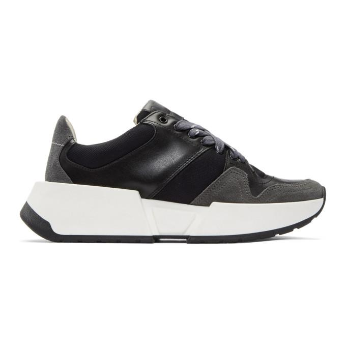 Mm6 Maison Margiela Black & Grey Flare Sneakers