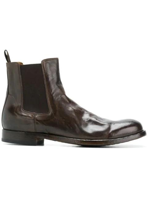 Officine Creative Tempus Boots In Brown