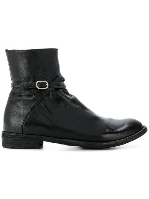 Officine Creative Lexikon Buckled Boots In Black