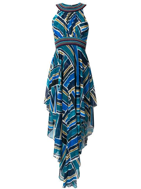 Talitha Printed Pleated Halter Dress