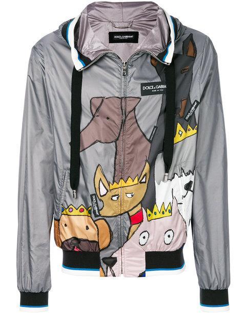 Dolce & Gabbana K-way Dog Patch Jacket