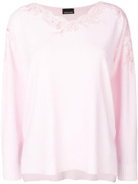 Ermanno Ermanno Maglia Sweater In Pink