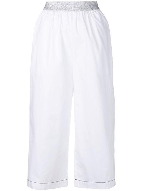 I'm Isola Marras Cropped Wide Leg Trousers - White