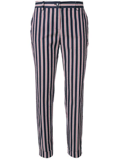 P.a.r.o.s.h. Striped Tapered Trousers In Blue