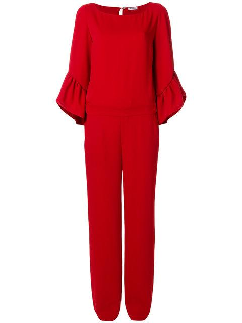 P.a.r.o.s.h. Ruffle Sleeve Jumpsuit In Red