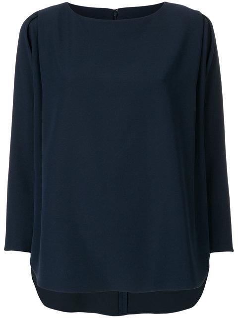 Emporio Armani Pleated Sleeve Blouse