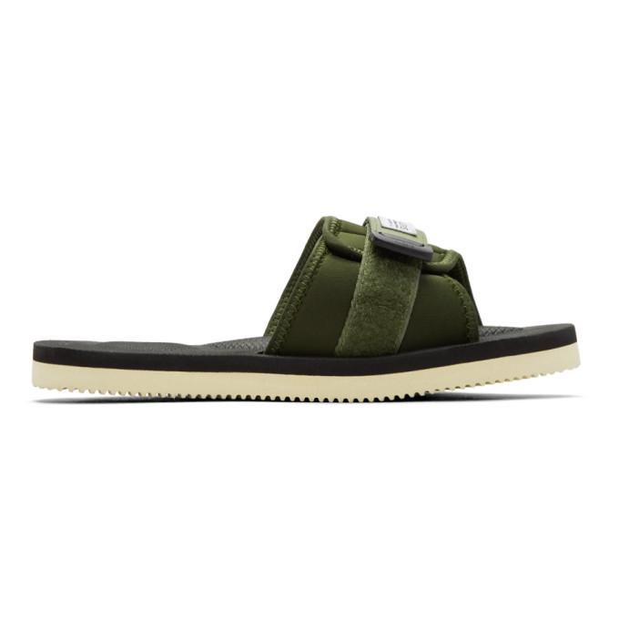 Suicoke Green Padri Sandals In Olive