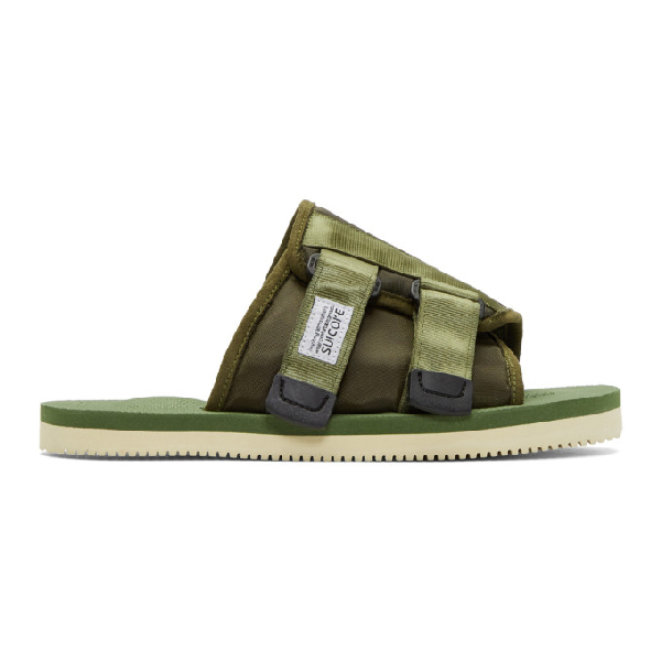 Suicoke Green Kaw-cab Sandals In Olive