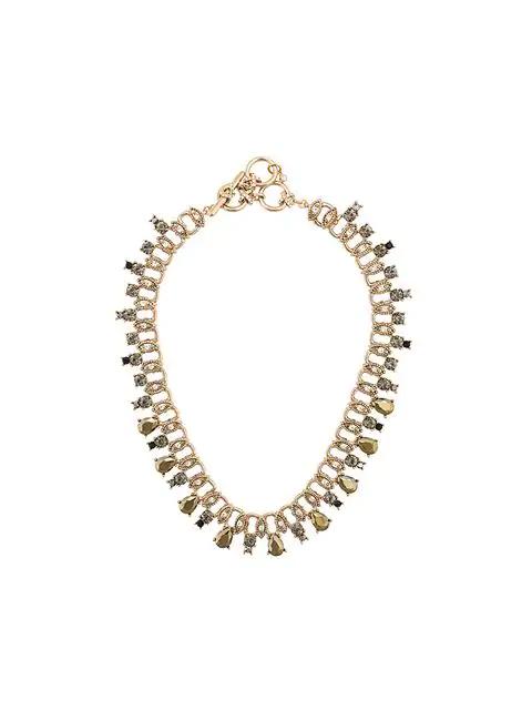 Marchesa Notte Teardrop Necklace - Metallic