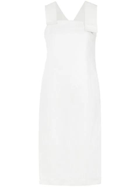 Mara Mac Midi Straight Dress - White