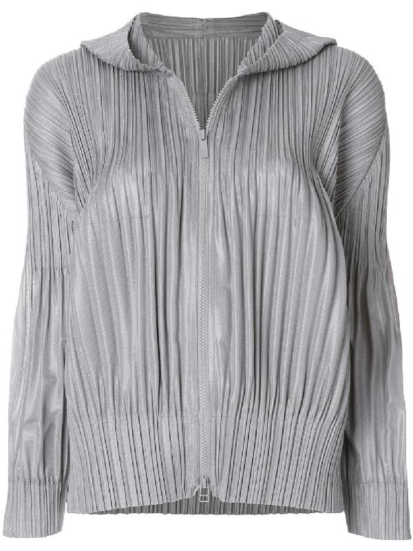 Pleats Please Issey Miyake Hooded Pleated Jacket