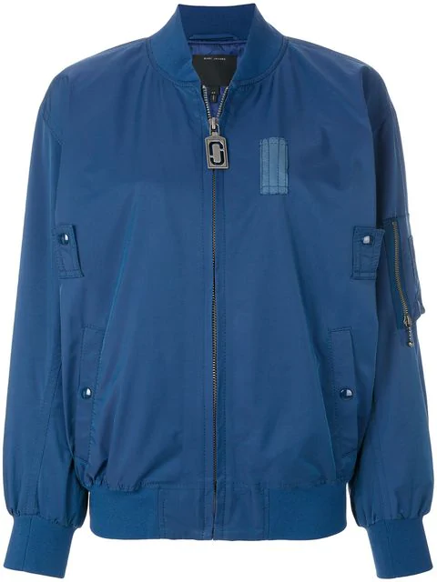 Marc Jacobs Shell Bomber Jacket - Blue