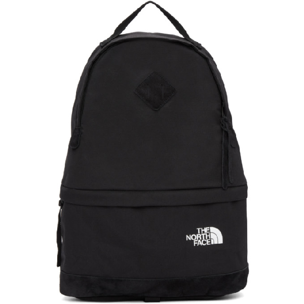 Junya Watanabe The North Face Suede-panelled Canvas Backpack In Black