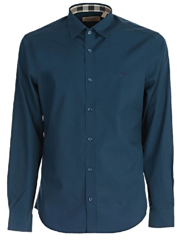 Burberry Shirt In Blue