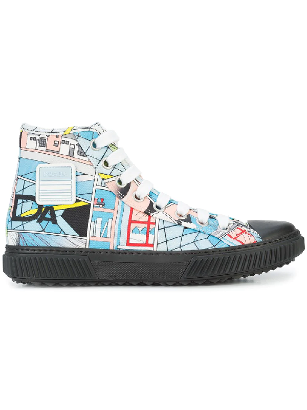 Prada Comic Printed Sneakers