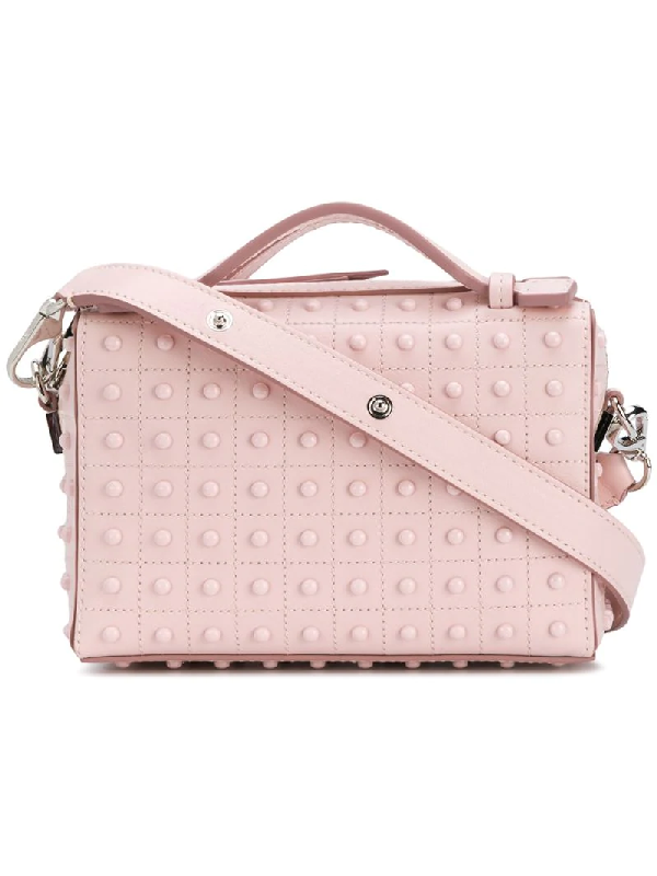 Tod's Gommino Leather Shoulder Bag In Pink