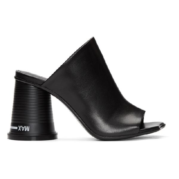 Mm6 Maison Margiela Black Court Cup Heel Sandals In 964 Black