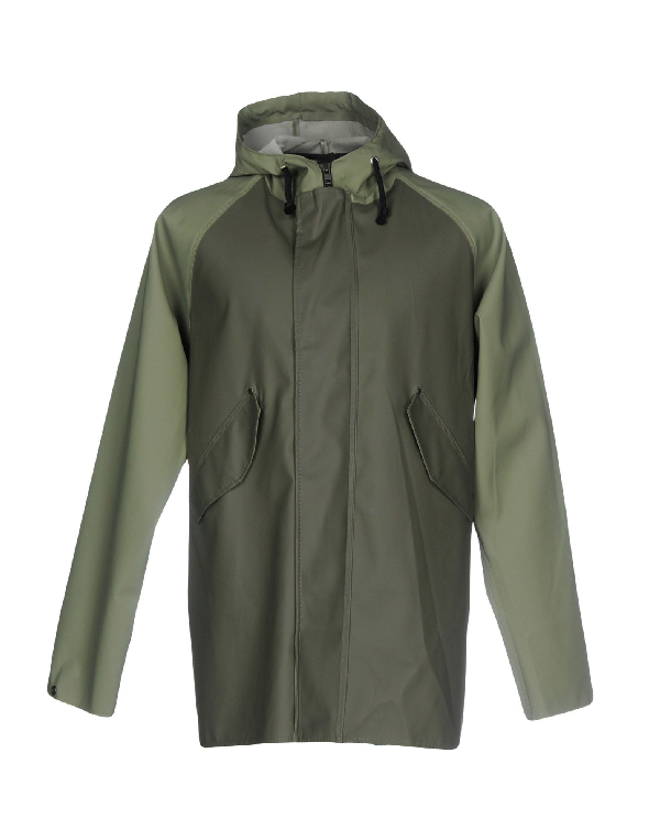 Elka Overcoats In Military Green