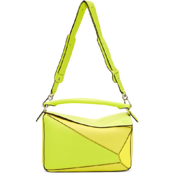 Loewe Yellow Medium Puzzle Bag In 8895 Yellow