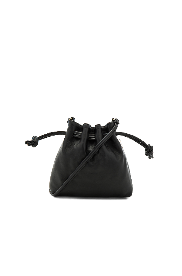 Clare V Petit Henri Maison Bag In Black Nappa