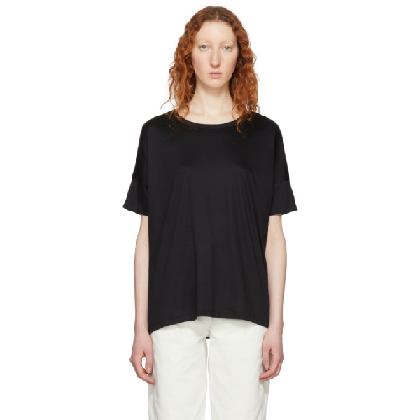 Lemaire Oversized T-shirt - Black In 999 Black