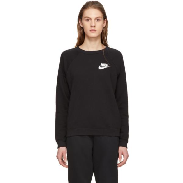 Nike Black Rally Crewneck Sweatshirt In 010 Black