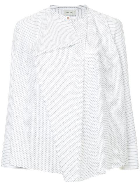 15d030fb5f6a Lemaire Draped Striped Shirt In 100 White B