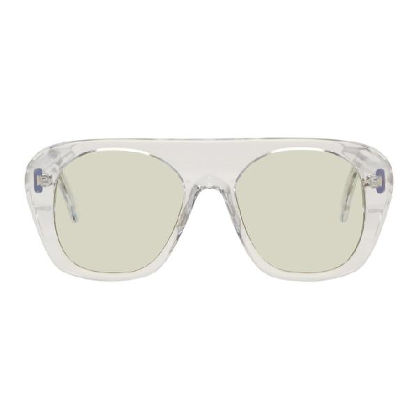 Marques' Almeida Transparent Aviator Sunglasses