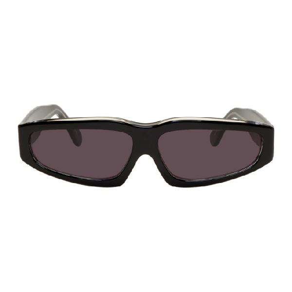 Marques' Almeida Marques Almeida Black Angular Frame Sunglasses