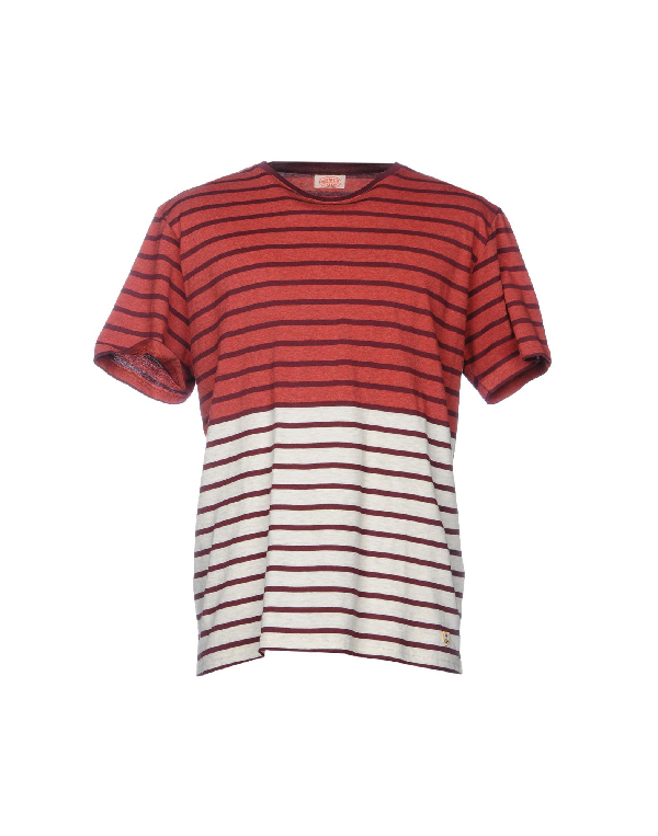 Armor-lux T-shirts In Brick Red