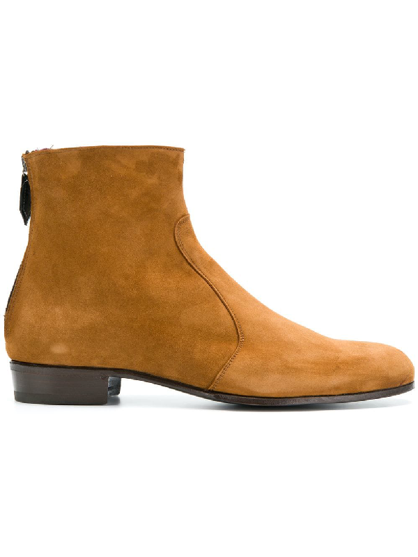 Lidfort Rear Zip Ankle Boots  In Neutrals
