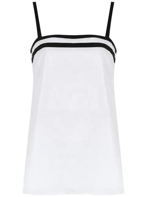 Mara Mac Straight Cut Out Top In White