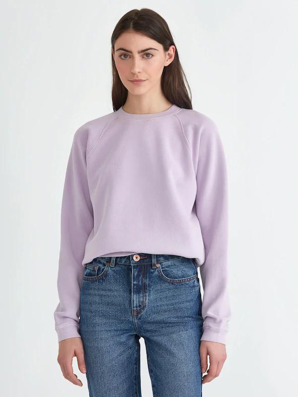 Frank + Oak The Vintage Wash Gym Sweatshirt In Lavender Frost
