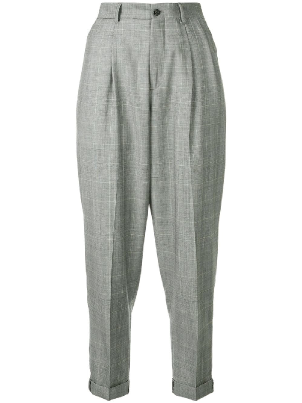 R13 Plaid Cropped Trousers