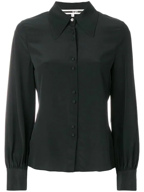 Mcq By Alexander Mcqueen Mcq Alexander Mcqueen Front Button Shirt - Black