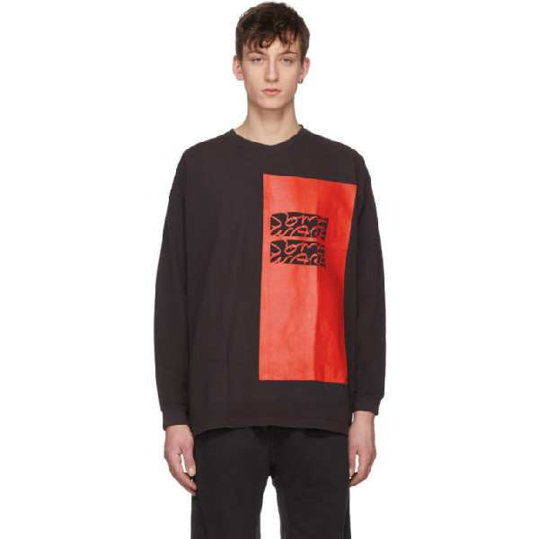 Some Ware Black Long Sleeve Colorblock T-shirt