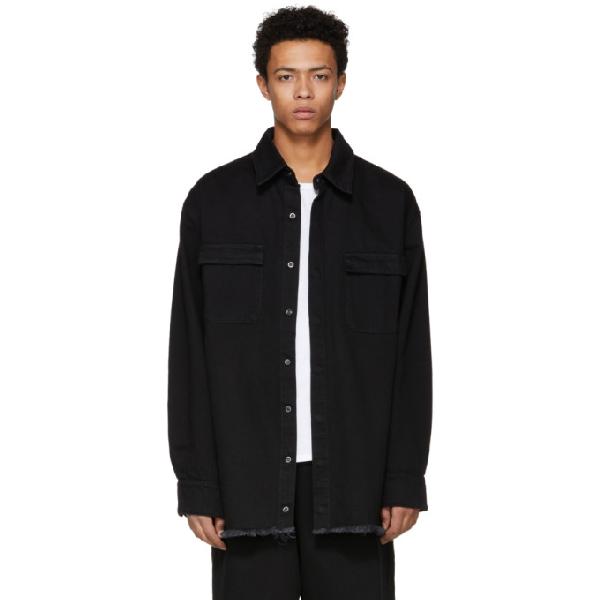 Marques' Almeida Marques Almeida Ssense Exclusive Black Oversized Denim Shirt