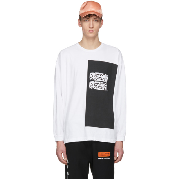 Some Ware Ssense Exclusive White Colorblock 'the New Body' T-shirt