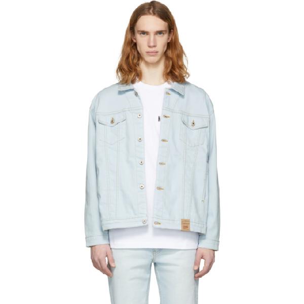 Naked And Famous Blue Oversized Denim Jacket