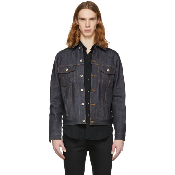Naked And Famous Denim Indigo Classic Fit Denim Jacket