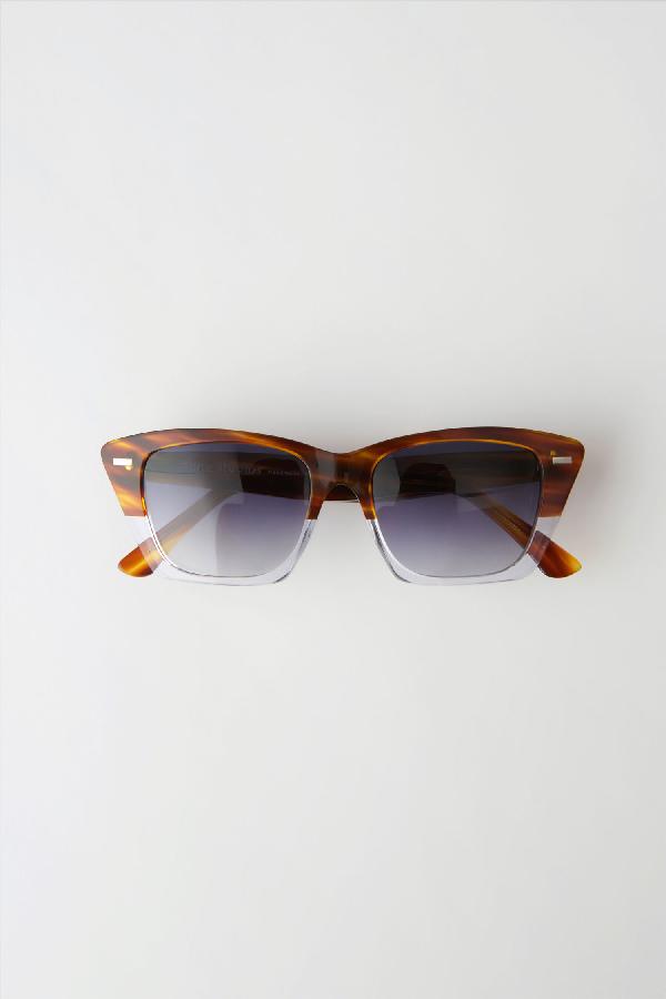 Acne Studios Cateye Sunglasses Tortoisetransp/grey Degrade
