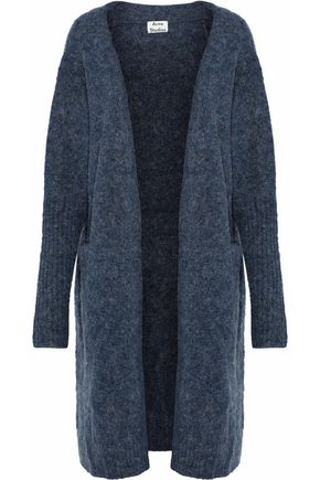 Acne Studios Woman Brushed Knitted Cardigan Navy