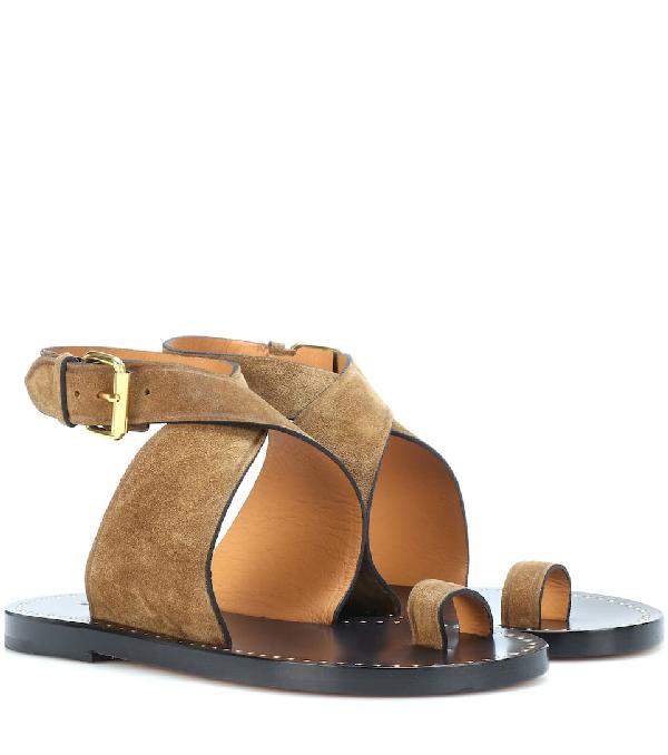 Isabel Marant Jools Suede Sandals In Beige